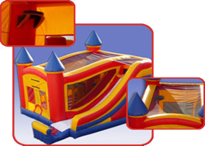 Main Event Party Rental Columbia MD 4 in 1 Castle Slide Combo